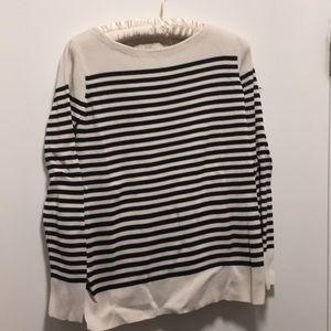 Loft Maternity black and white stripe sweater
